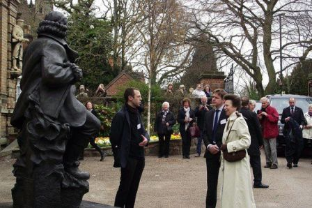 Peter meeting Princess Anne